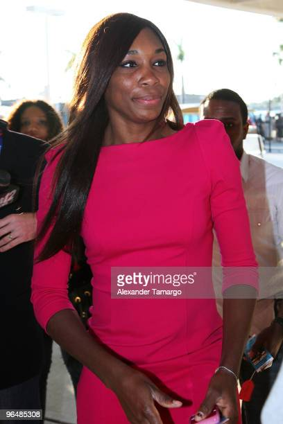 Tennis player Venus Williams attends Super Bowl XLIV at the Sun Life Stadium on February 7 2010 in Miami Gardens Florida