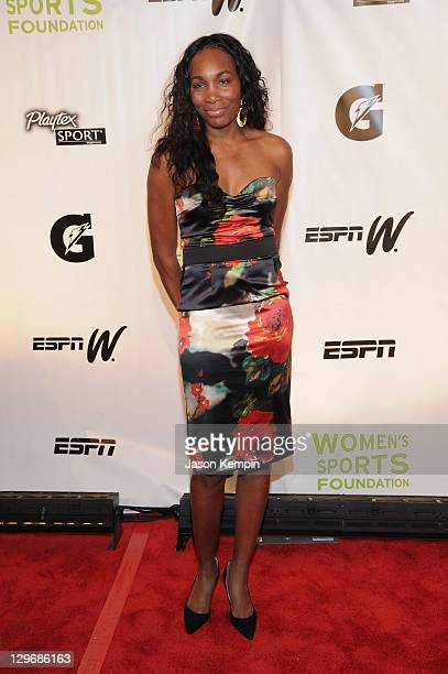 Tennis player Venus Williams attends the 32nd Annual Salute To Women In Sports Gala at Cipriani Wall Street on October 19 2011 in New York City