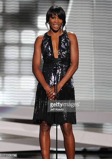 Tennis player Venus Williams introduces the presenters for the Arthur Ashe Award for Courage onstage during the 2008 ESPY Awards held at NOKIA...