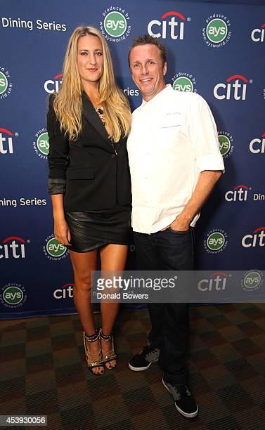Tennis player Victoria Azarenka and chef Marc Murphy attend Taste Of Tennis Week Taste Of Tennis Gala at the W New York on August 21 2014 in New York...