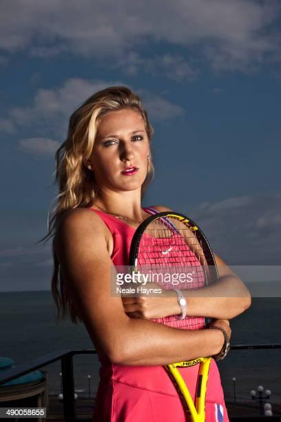 Tennis player Victoria Azarenka is photographed in Brighton England