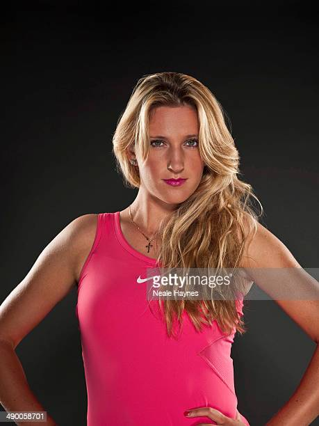 Tennis player Victoria Azarenka is photographed in Brighton England