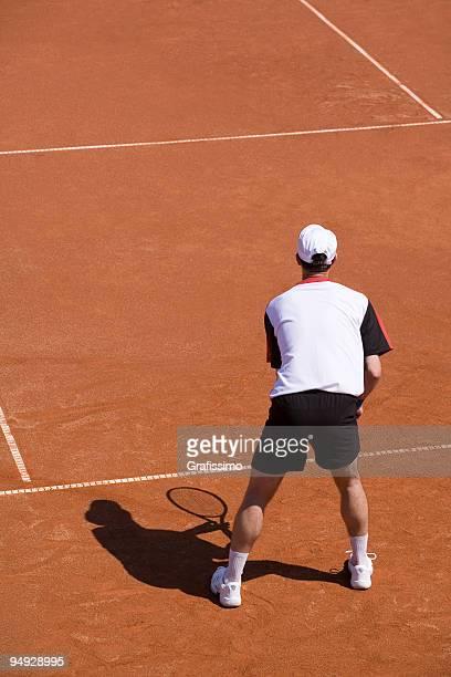 Joueur de Tennis en attente