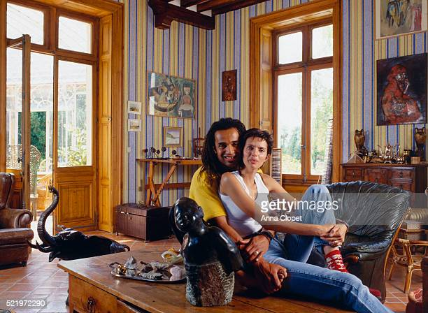 Tennis Player Yannick Noah and Wife