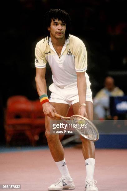Tennis Player Yannick Noah in New York circa 1984.