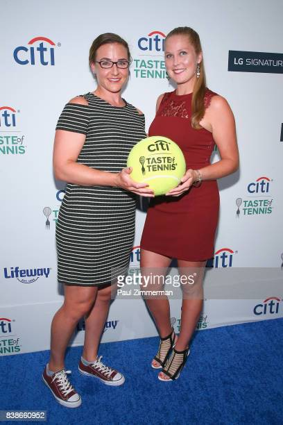 Tennis players Abigail Spears and Shelby Rogers attend Citi Taste Of Tennis at W New York on August 24 2017 in New York City