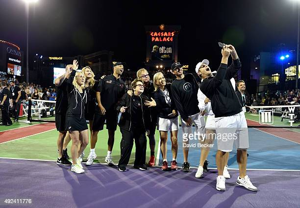 Tennis players Andre Agassi Tracy Austin Stefanie Graf James Blake Billie Jean King Sir Elton John tennis players Martina Navratilova Mardy Fish...