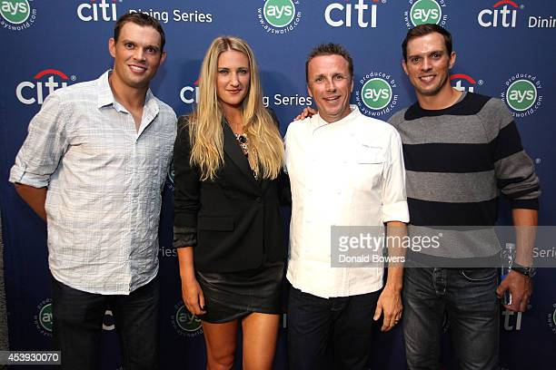 Tennis players Bob Bryan and Victoria Azarenka chef Marc Murphy and tennis player Mike Bryan attend Taste Of Tennis Week Taste Of Tennis Gala at the...