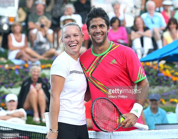 Tennis players Caroline Wozniacki and Fernando Verdasco during the 7th Annual KSwiss Desert Smash Day 1 at La Quinta Resort and Club on March 8 2011...