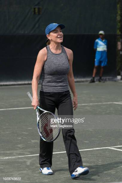 Tennis Players Chris Evert attends the 4th Annual JMTP ProAm In The Hamptons on August 25 2018 in Amagansett New York