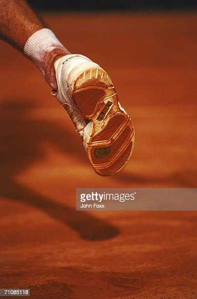 tennis player's foot