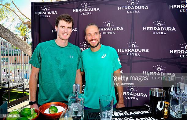 """Tennis Players Jamie Murray and Bruno Soares attend Tequila Herradura's """"Mix For A Cause"""" at 12th Annual Desert Smash Benefitting St. Jude Children's..."""