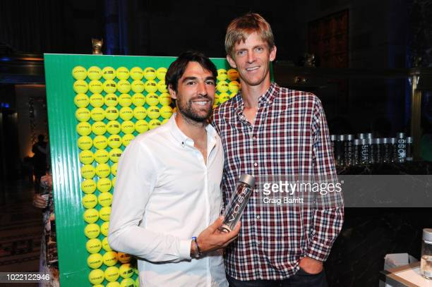 Tennis players Jeremy Chardy and Kevin Anderson attend the Citi Taste Of Tennis gala on August 23, 2018 in New York City.