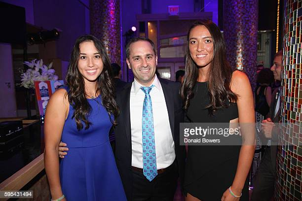 Tennis players Louisa Chirico and Samantha Crawford and guest at Taste Of Tennis New York on August 25, 2016 in New York City.