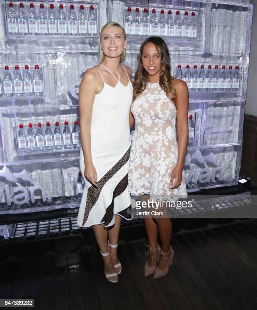 Tennis players Maria Sharapova and Madison Keys attend Evian And Maria Sharapova Unveil Latest Evian Global Ambassador And New Ad Campaign Event at...