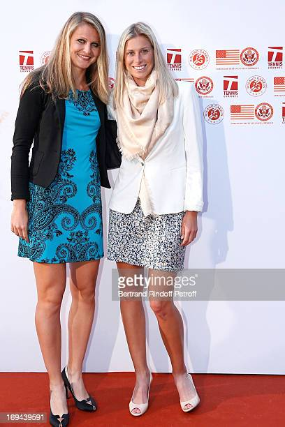 Tennis Players Mathilde Johansson and Pauline Parmentier attend Annual Photocall for Roland Garros Tennis Players at 'Residence De L'Ambassadeur Des...