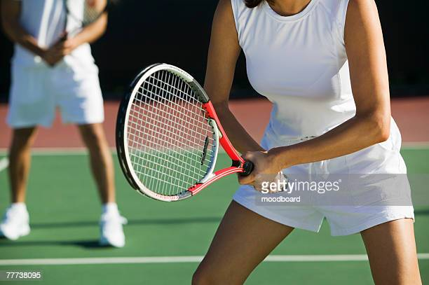 tennis players - doubles stock photos and pictures