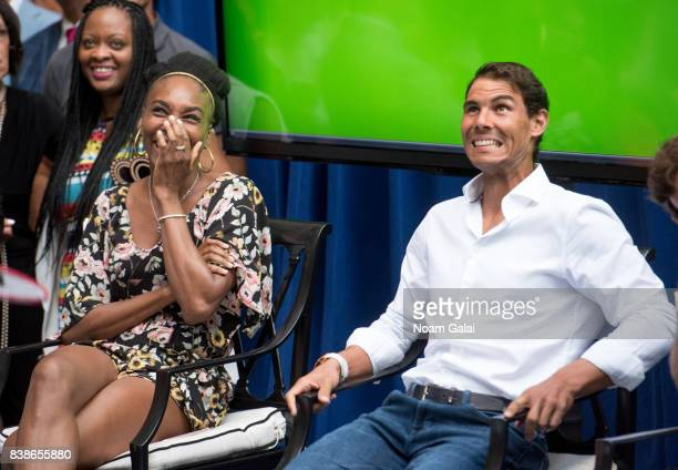 Tennis players Venus Williams and Rafael Nadal attend the 2017 Lotte New York Palace Invitational at Lotte New York Palace on August 24 2017 in New...