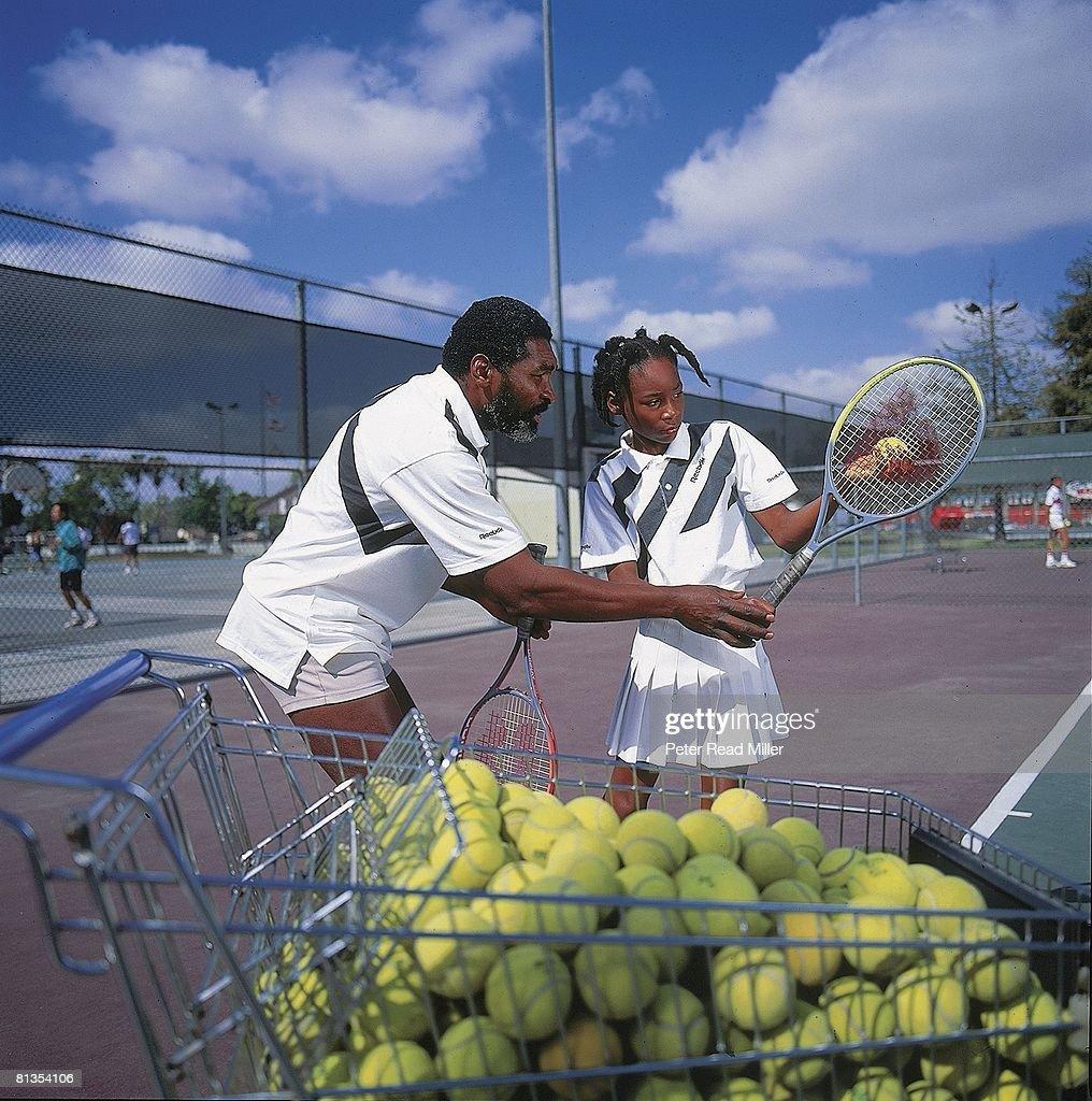 Venus Williams and Richard Williams, Tennis : News Photo