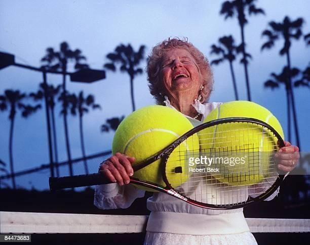 Portrait of 82yearold Dorothy 'Dodo' Cheney after practice Cheney has won over 300 titles La Jolla CA 7/23/1999 CREDIT Robert Beck