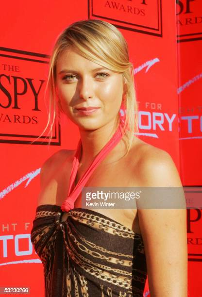 Tennis pro Maria Sharapova arrives at 'Fight for Victory' the 13th Annual Espy PreParty hosted by Andy Roddick at the Playboy Mansion on July 12 2005...