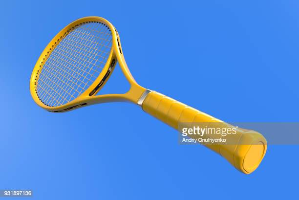 tennis racket on court - serving sport stock photos and pictures