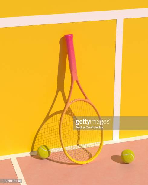 tennis racket - sports equipment stock pictures, royalty-free photos & images