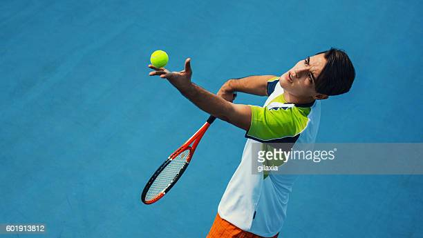 tennis serve. - serving sport stock photos and pictures