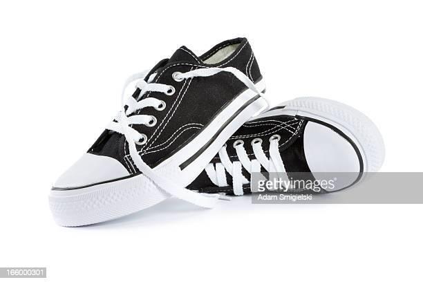 calçado para tênis - sapato preto - fotografias e filmes do acervo
