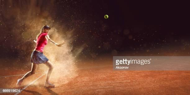 Tennis: Sportive en action