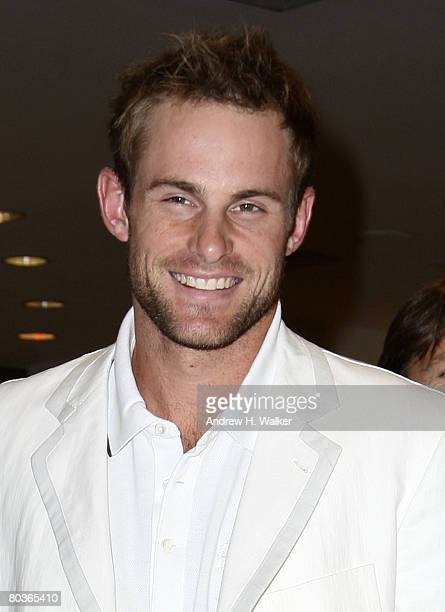 Tennis star Andy Roddick attends Bloomingdale's celebration for Lacoste's 75th Anniversary March 24 2008 in New York City