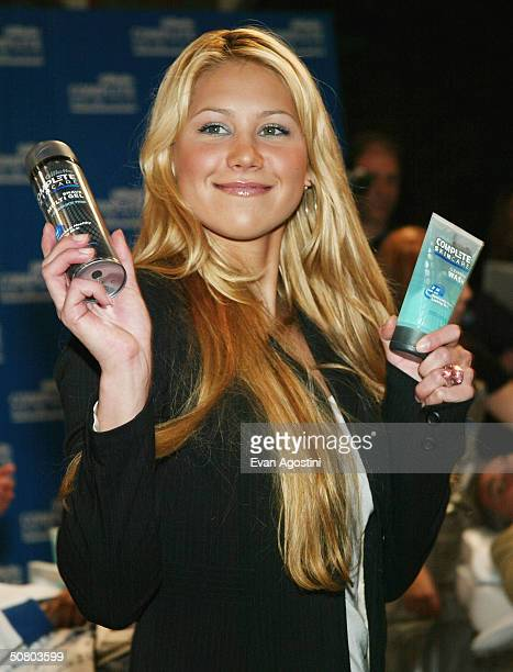 Tennis star Anna Kournikova kicksoff a nationwide search for the 'Completely Irresistible Face' to introduce the new Gillette Complete Skincare line...