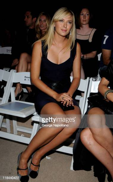 Tennis star Maria Sharapova attends the Herve Leger Spring 2009 at The Promenade in Bryant Park on September 7 2008 in New York City