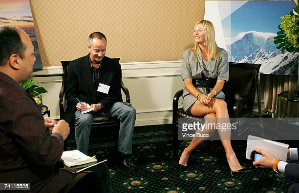Tennis star Maria Sharapova raised in the Russian city of Sochi speaks as the ambassador for Sochi 2014 while backing Russia's Olympic Winter Games...