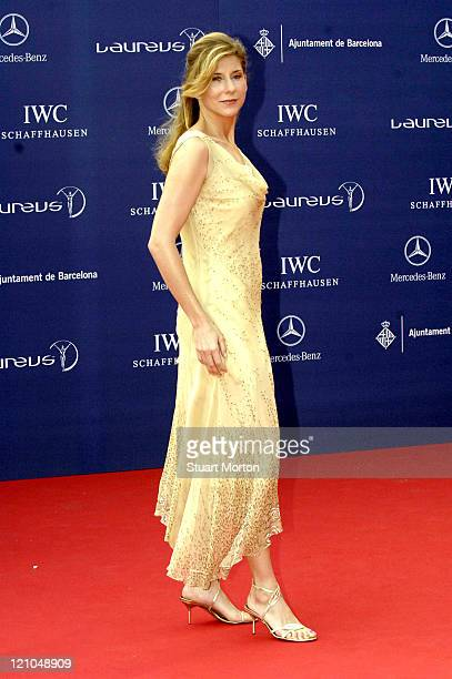 Tennis star Monica Seles during 2006 Laureus World Sports Awards Red Carpet Arrivals at Museu Nacional d'Art de Catalunya in Barcelona Spain