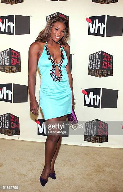 Tennis star Serena Williams attends the VH1 Big in '04 at the Shrine Auditorium December 1 2004 in Los Angeles California