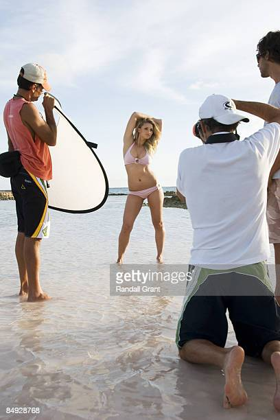Tennis star Tatiana Golovin during the portrait session in Santo Domingo Dominincan Republic for Swimsuit Issue 2009 Photographer in frame is Walter...