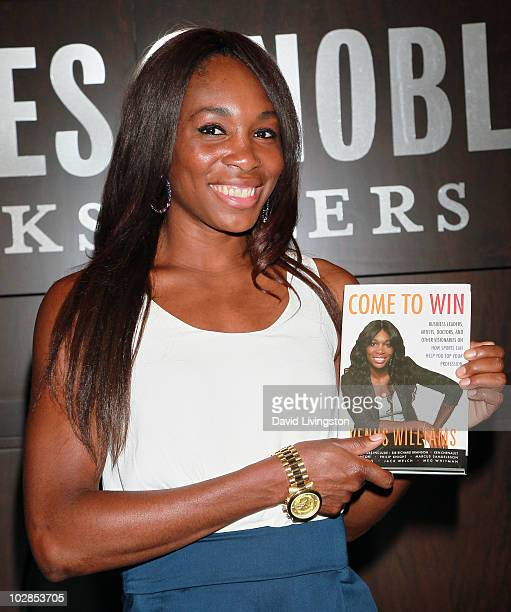 Tennis star Venus Williams attends a signing for her book 'Come to Win' at Barnes Noble Booksellers at The Grove on July 13 2010 in Los Angeles...