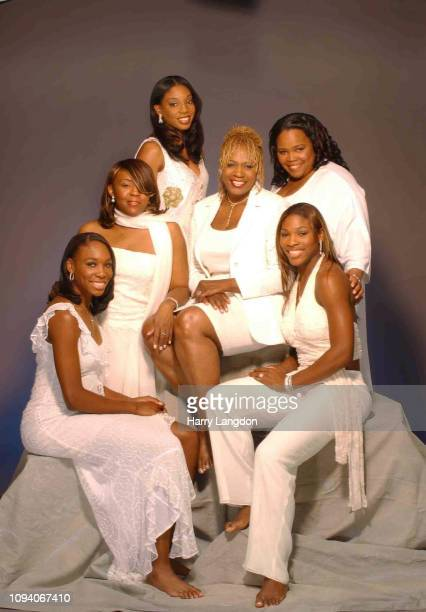 Tennis Stars Venus Williams and Serena Williams with sisters and mother pose for a portrait in Los Angeles California