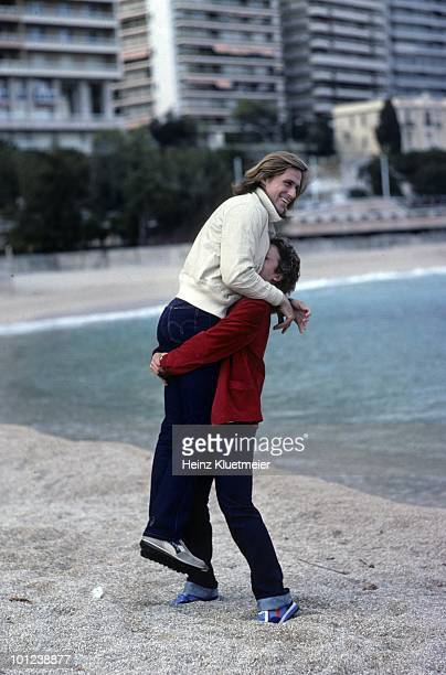 Sweden Bjorn Borg with fiancee Mariana Simionescu during photo shoot Monte Carlo Monaco 3/1/19803/31/1980 CREDIT Heinz Kluetmeier