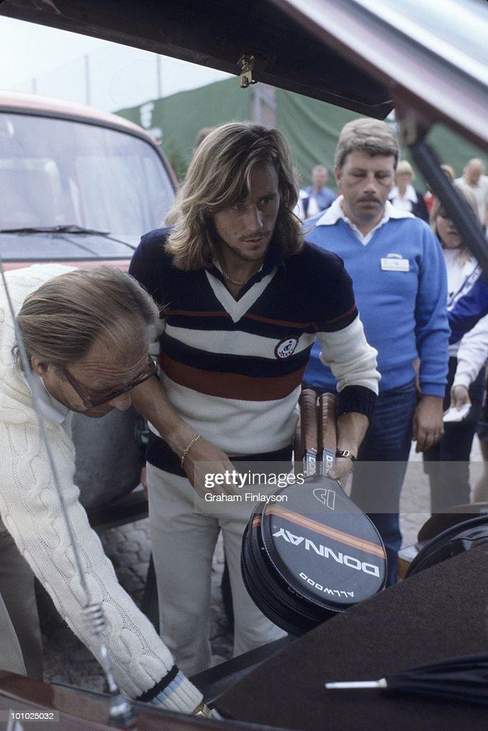 Sweden Bjorn Borg casual after winning tournament at Bastad Tennis Stadium. Bastad, Sweden 7/27/1978