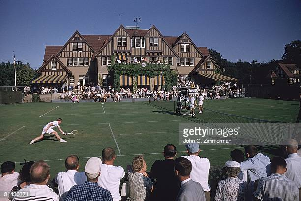Tennis US National Championships Scenic view of miscellaneous action at West Side Tennis Club Forest Hills NY 9/4/1956