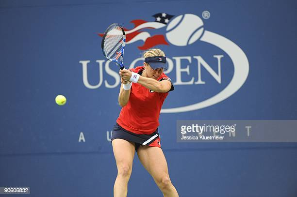 US Open Belgium Kim Clijsters in action vs USA Venus Willliams during Women's 4th Round at National Tennis Center Flushing NY 9/6/2009 CREDIT Jessica...