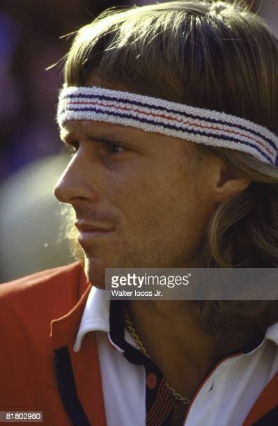Tennis US Open Closeup of Sweden Bjorn Borg before Finals match vs USA John McEnroe at National Tennis Center Flushing NY 9/13/1981