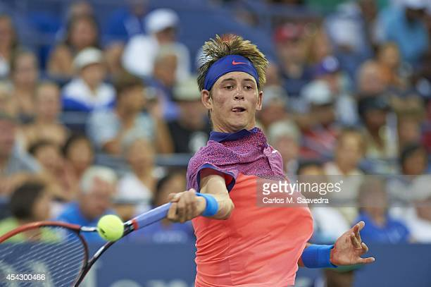 US Open Closeup of USA Jared Donaldson in action vs France Gael Monfils during Men's 1st Round match at BJK National Tennis Center Flushing NY CREDIT...