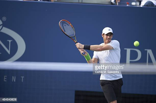 US Open Great Britain Andy Murray in action vs France JoWilfried Tsonga during Men's 4th Round match at BJK National Tennis Center Flushing NY CREDIT...