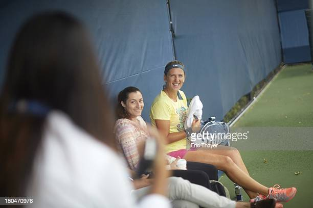 US Open Preview Portrait of Victoria Azarenka of Belarus prepares for tournament during practice at BJK National Tennis Center Flushing NY CREDIT...