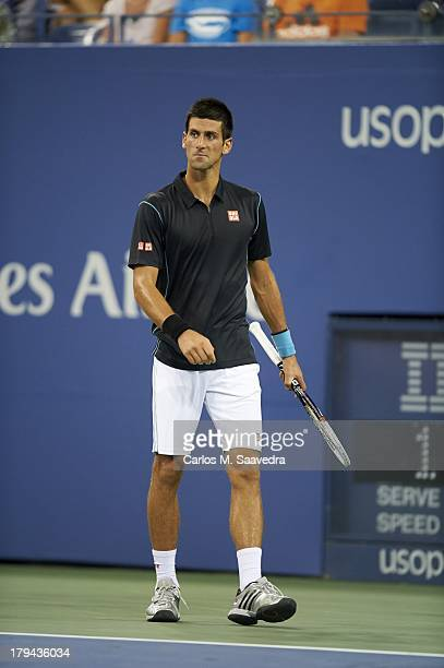 US Open Serbia Novak Djokovic during Men's 3rd Round match vs Portugal Joao Sousa at BJK National Tennis Center Flushing NY CREDIT Carlos M Saavedra