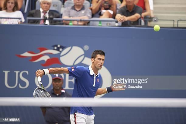 US Open Serbia Novak Djokovic in action vs Brazil Joao Souza during Men's 1st Round match at BJK National Tennis Center Flushing NY CREDIT Carlos M...