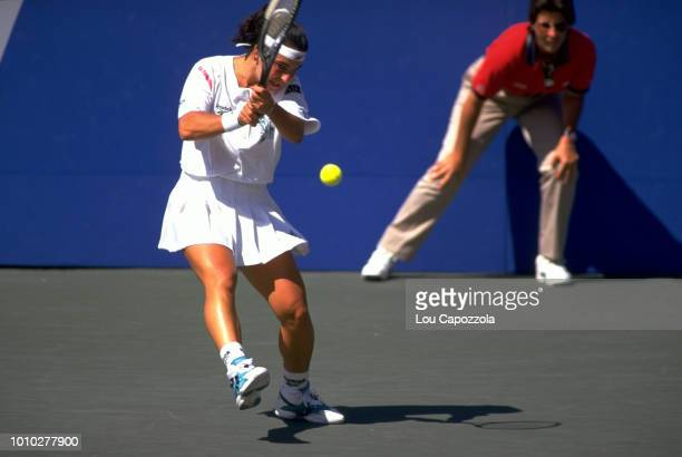 US Open Spain Arantxa Sanchez Vicario in action during Women's Finals at USTA National Tennis Center Flushing NY CREDIT Lou Capozzola